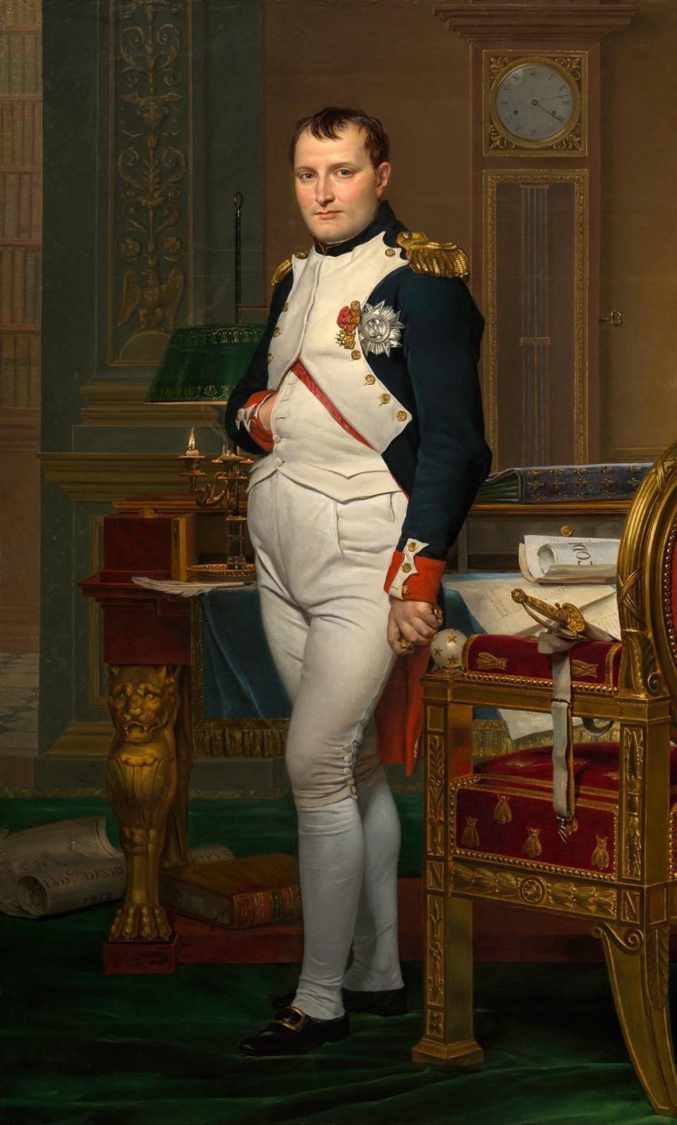 Gemälde von Jacques Louis David, das Napoleon im Arbeitszimmer zeigt, Google Art Project 2